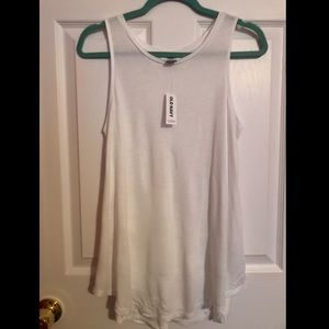 NWT Old Navy white high neck tank top